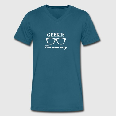 Geek Is The New Sexy Geek Is The New Sexy - Men's V-Neck T-Shirt by Canvas