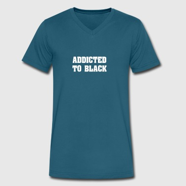 Addicted to Black - Men's V-Neck T-Shirt by Canvas