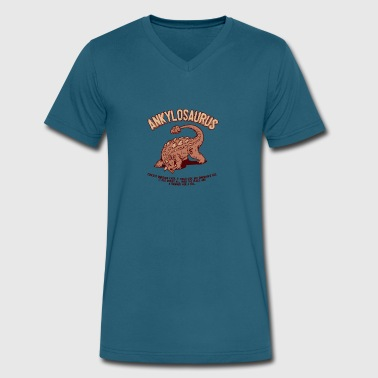 Ankylosaurus - Men's V-Neck T-Shirt by Canvas