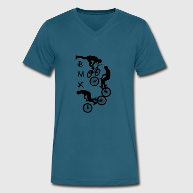 Bicycle Bmx Jump BMXBMX,cycling,bike,bmx,bicycle - Men's V-Neck T-Shirt by Canvas