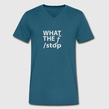 What The F Stop - Men's V-Neck T-Shirt by Canvas