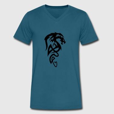 Tribal Dragon - Men's V-Neck T-Shirt by Canvas