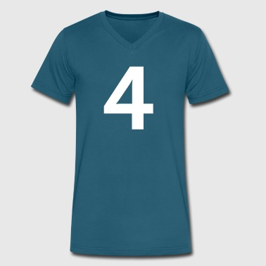 Sport Number 4 Four - Men's V-Neck T-Shirt by Canvas