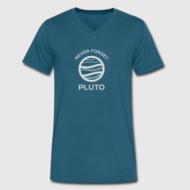 Pluto Never Forget Never Forget Pluto The Planet - Men's V-Neck T-Shirt by Canvas