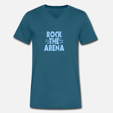 Arena Rock The Arena - Men's V-Neck T-Shirt by Canvas