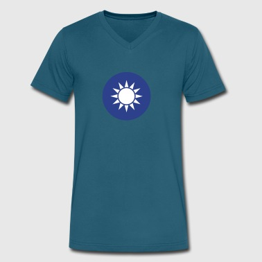 National Emblem Of Taiwan - Men's V-Neck T-Shirt by Canvas