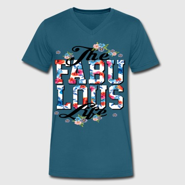 Unsatisfied THE FABU LOUS T-SIRT - Men's V-Neck T-Shirt by Canvas