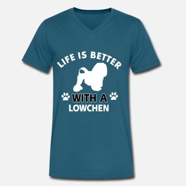 Dog Breed LOWCHEN DOG BREED - Men's V-Neck T-Shirt by Canvas