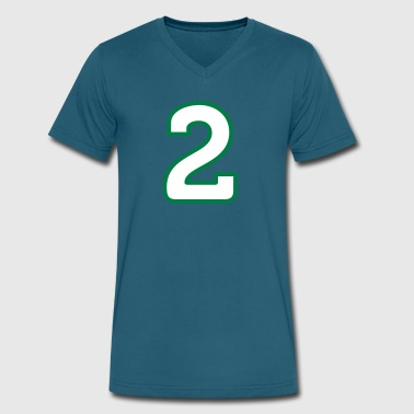 Sports Numbers Sport Number 2 Two - Men's V-Neck T-Shirt by Canvas