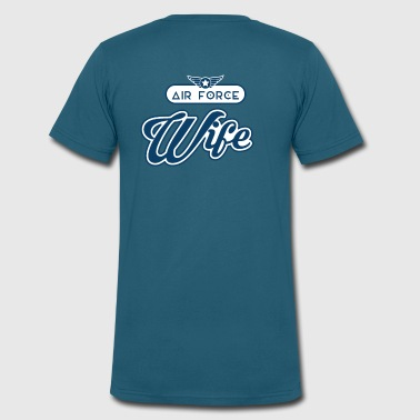 Air Force Wife Shirt - Women - Men's V-Neck T-Shirt by Canvas