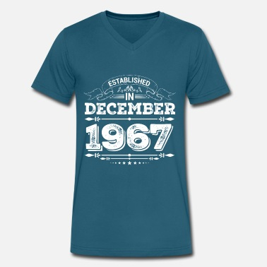 1967 Present Established in December 1967 Present - Men's V-Neck T-Shirt by Canvas