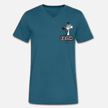 Faithful Faith - Men's V-Neck T-Shirt by Canvas