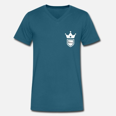 Pocket Kings King and Queen breast pocket couple t-shirt - Men's V-Neck T-Shirt