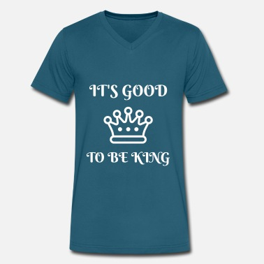 No Monarchy king crown number one monarchy noble - Men's V-Neck T-Shirt by Canvas