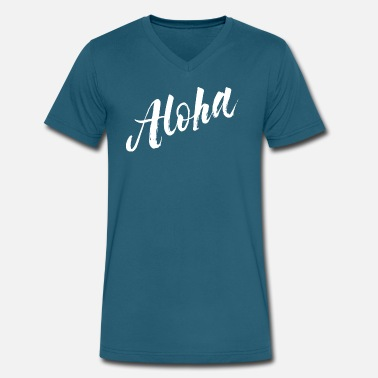 Aloha Jokes Aloha - Men's V-Neck T-Shirt by Canvas