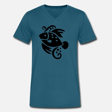 Ornamental Fish fish ornament - Men's V-Neck T-Shirt by Canvas