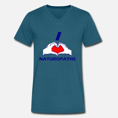 Naturopaths NATUROPATH DESIGN - Men's V-Neck T-Shirt by Canvas