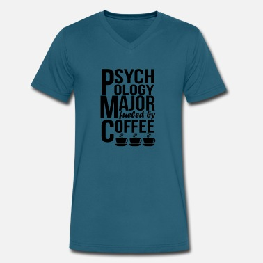 Psychology Psychology Major Fueled By Coffee - Men's V-Neck T-Shirt