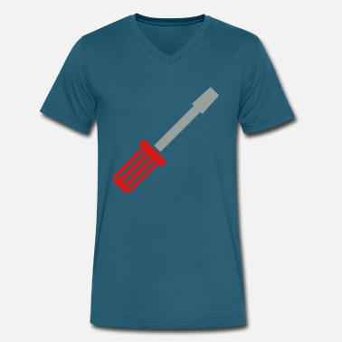 Hand Tools Screwdriver tool - Men's V-Neck T-Shirt by Canvas
