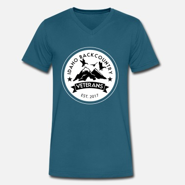 Idaho Fishing idaho hunting and fishing vets - Men's V-Neck T-Shirt by Canvas