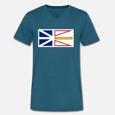 Newfoundland Flag 1200px Flag of Newfoundland and Labrador svg - Men's V-Neck T-Shirt by Canvas