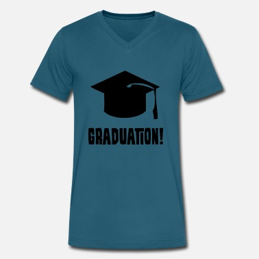 College Graduation College Highschool Hat - Men's V-Neck T-Shirt