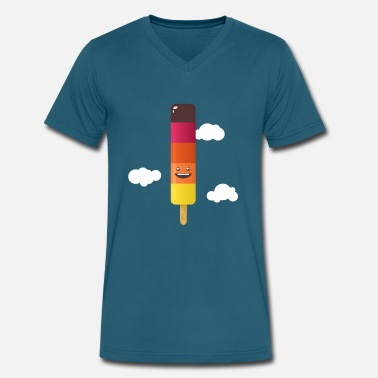 Kawaii Water Ice Cream - Men's V-Neck T-Shirt by Canvas
