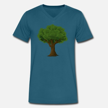Green Tree Green Tree - Men's V-Neck T-Shirt by Canvas