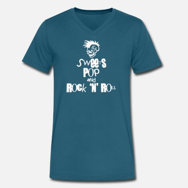 Sweet Roll Sweets Pop Rock N Roll funny - Men's V-Neck T-Shirt by Canvas