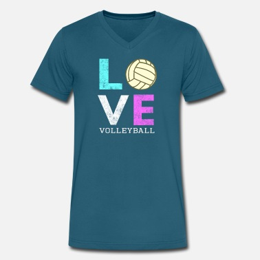 Volley Awesome Girls & Womens Volleyball Gift They LOVE Volleyball - Men's V-Neck T-Shirt by Canvas
