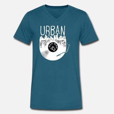 Old School Urban Urban Hip Hop Old School Rap - Men's V-Neck T-Shirt by Canvas