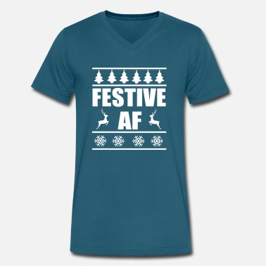 Festive festive af - Men's V-Neck T-Shirt by Canvas