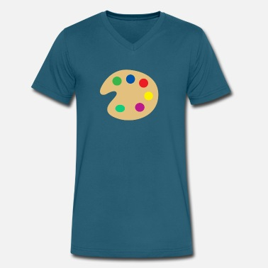 Paint Gun paint - Men's V-Neck T-Shirt by Canvas