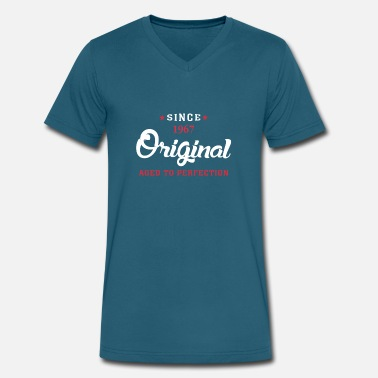 Since 1967...original Aged To Perfection Since 1967 Original Aged To Perfection - Men's V-Neck T-Shirt by Canvas