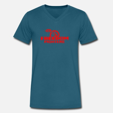 Freedom Freedom Fighters - Men's V-Neck T-Shirt