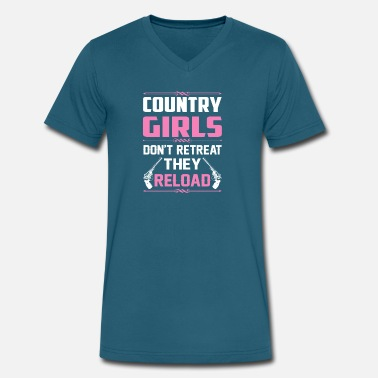 Reload Country Girls Dont Retreat They Reload - Men's V-Neck T-Shirt