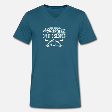 Ski Slope MBA Skiing Memories Made on Slopes - Men's V-Neck T-Shirt
