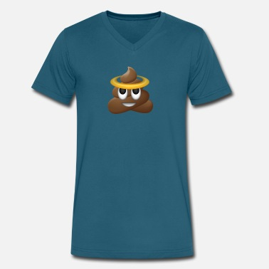 Pooping Grandma To Be Holyshit Smiley Funny Holy Poop Gift Joke lol Cool - Men's V-Neck T-Shirt by Canvas