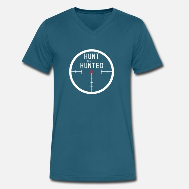 Anti-hunting Hunt Or Be - Men's V-Neck T-Shirt by Canvas