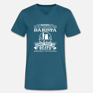 Barista Clothing Barista Shirt - Men's V-Neck T-Shirt by Canvas