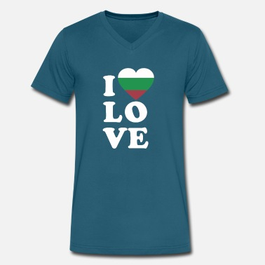 I Love Bulgaria I love Bulgaria - Men's V-Neck T-Shirt by Canvas