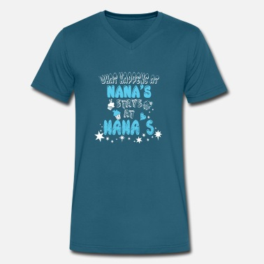 What Happens At Nanas Stays At Nanas What Happens At Nana's Stays At Nana's T Shirt - Men's V-Neck T-Shirt by Canvas