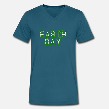 Earth Day 2017 Earth Day Tee Shirt - Earth Day 2017 - Men's V-Neck T-Shirt by Canvas
