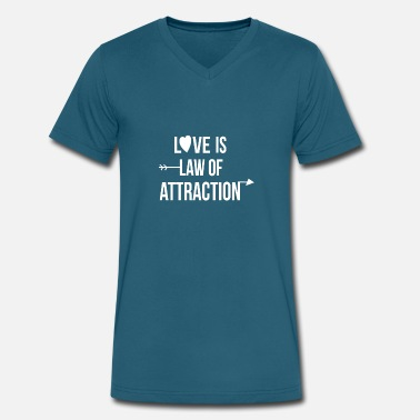 Law Attraction love is my law of attraction - Men's V-Neck T-Shirt by Canvas