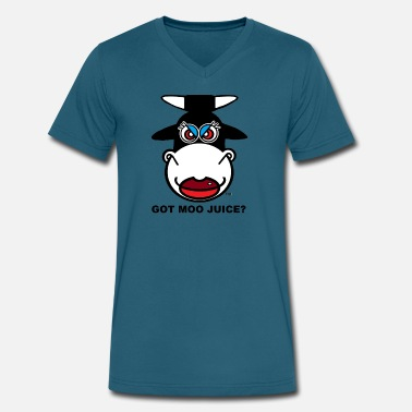 Juicehead GOT MOO JUICE - Men's V-Neck T-Shirt by Canvas