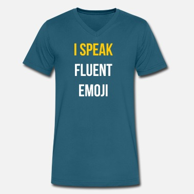 I Speak Fluent Music Design I speak fluent - Men's V-Neck T-Shirt by Canvas