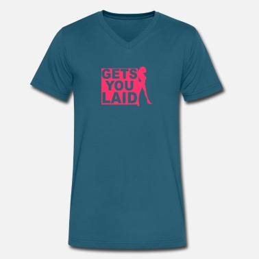Will Get You Laid Gets you laid - Men's V-Neck T-Shirt by Canvas