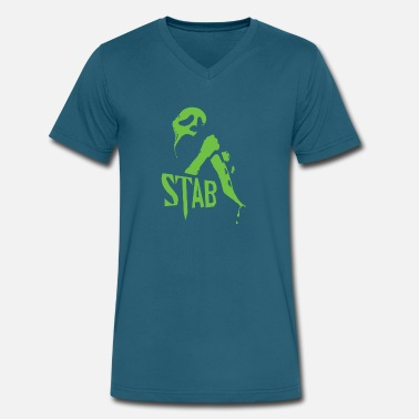 Stab Movie 351 Stab - Men's V-Neck T-Shirt by Canvas