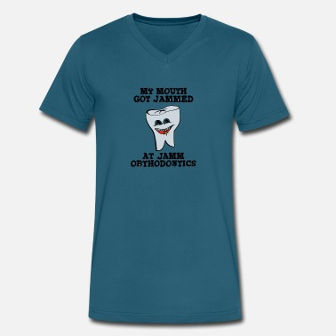 Orthodontics Funny Jamm Orthodontics - Men's V-Neck T-Shirt by Canvas