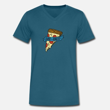 Mystic Pizza Life Pizza - Men's V-Neck T-Shirt by Canvas